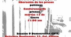 Invitan a conferencia de prensa por la liberación de los presos políticos