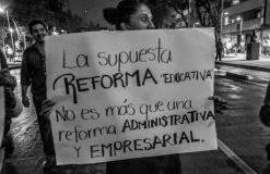 ¡No a la Reforma educativa! Marcha Bellas Artes al Senado