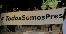 Acto político cultural en el Angel de la Independencia en apoyo a los presos del 1º de Diciembre.