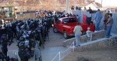Entrada de la PFP a las instalaciones de la mina en Cananea en 2007