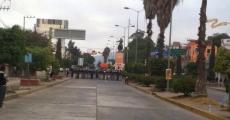 Policia Federal agrede a normalistas de Ayotzinapa.