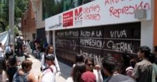Muestra de apoyo en el D.F. a las casas de estidiantes de Michoacán